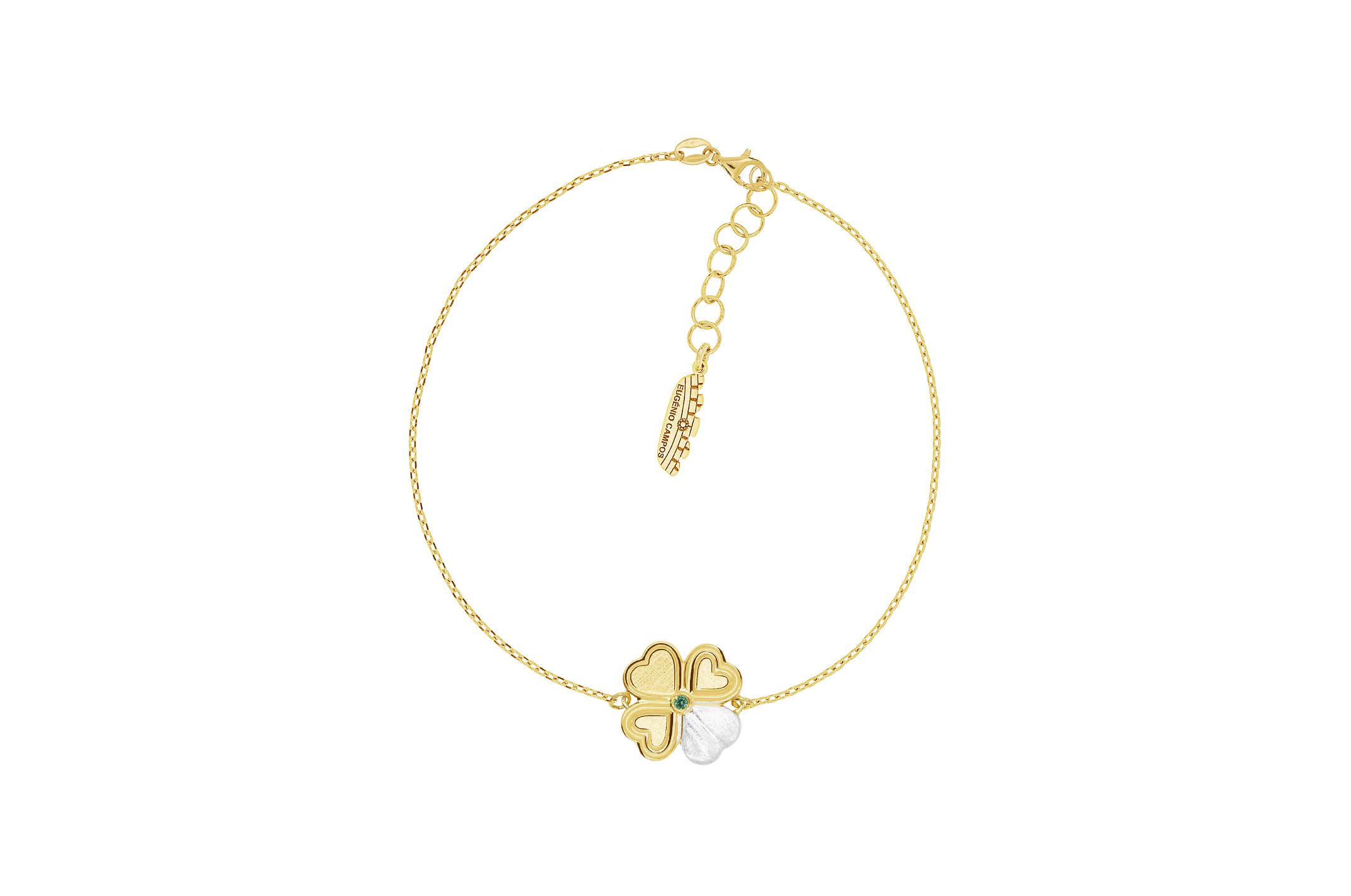 Joia: pulseira;Material: prata 925;Peso: 4.80 gr;Pedra: zircónia;Cor: branco e amarelo;Medida: 16.0 + 3.0 cm;Género: mulher