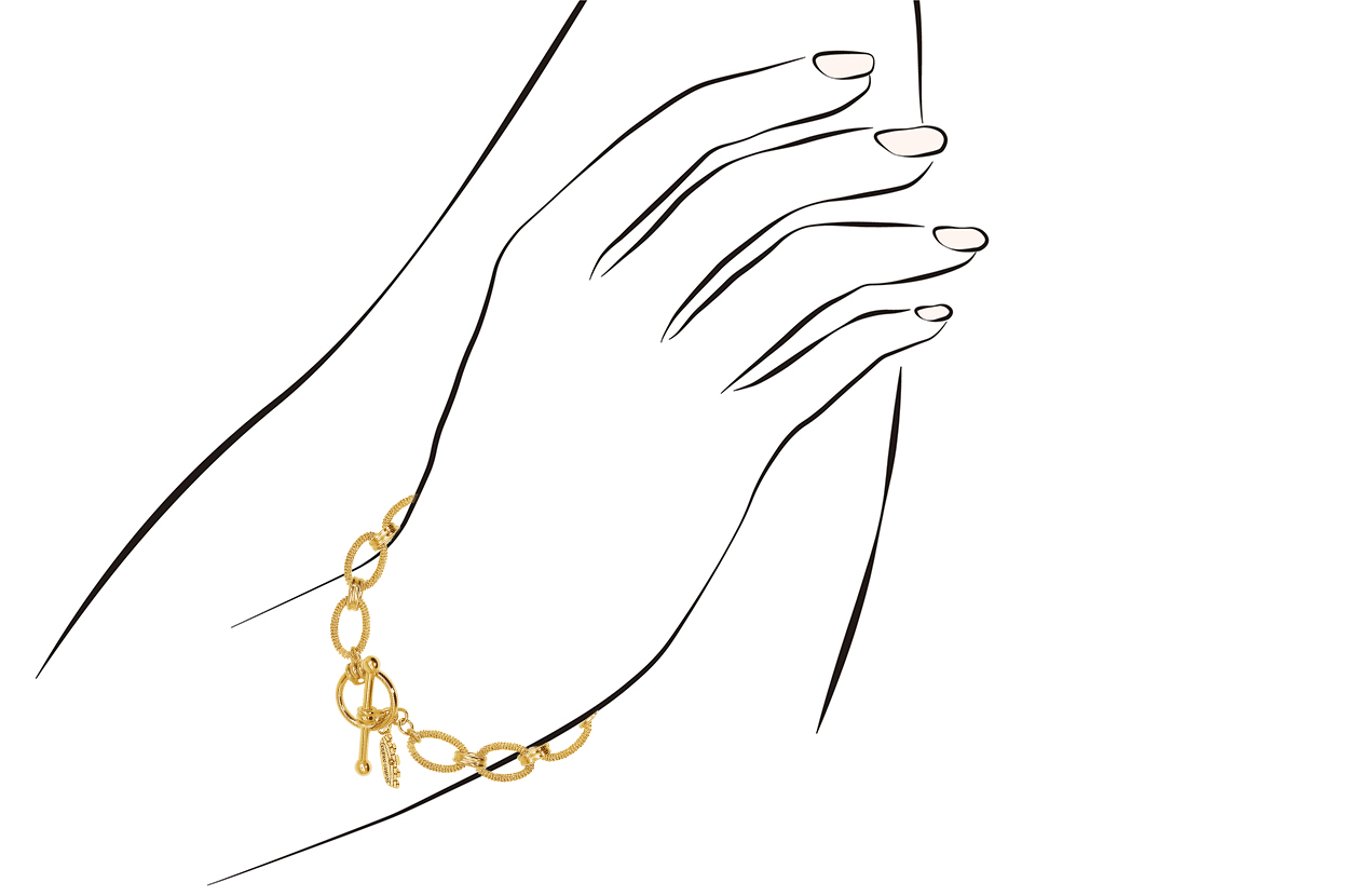 Joia: pulseira;Material: prata 925;Peso: 10.60 gr;Cor: amarelo;Medida: 18 cm;Género: mulher