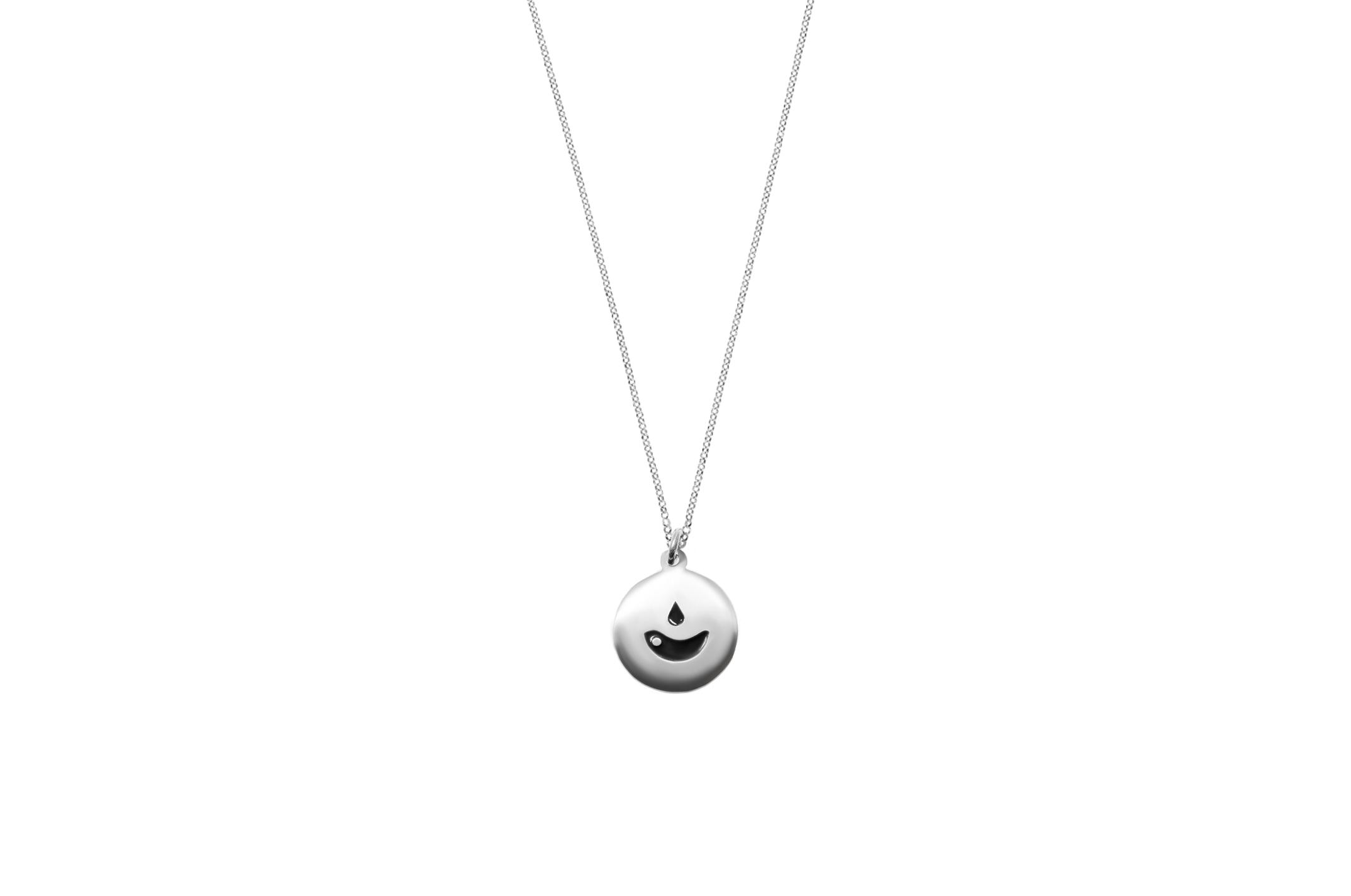 Joia: colar;Material: prata 925;Cor: branco;Medida (Fio): 38 + 6 cm;Medida (Pendente): 1.2 cm;Género: mulher