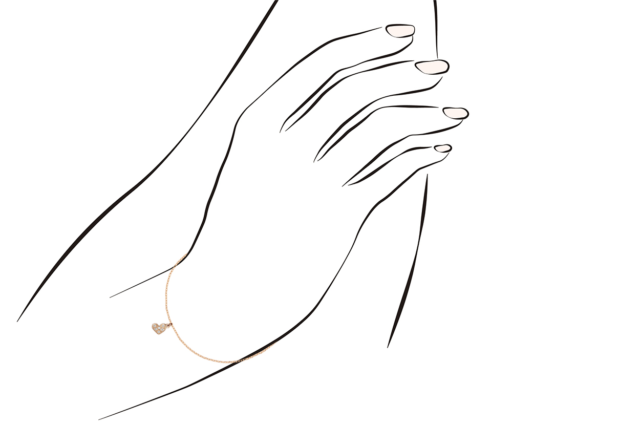 Joia: pulseira;Material: ouro 19.25 kt;Peso: 2.2 gr;Pedras: 6 diamantes 0.08 ct H/VS1;Cor: amarelo;Género: mulher