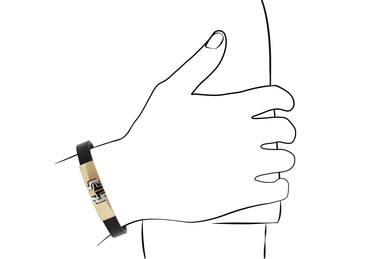 Joia: pulseira;Material: ouro 19.25 kt;Peso: 19.5 gr;Cor: amarelo;Medida Largura: 1.0 cm;Media Comprimento: ajustável a pedido;Género: homem