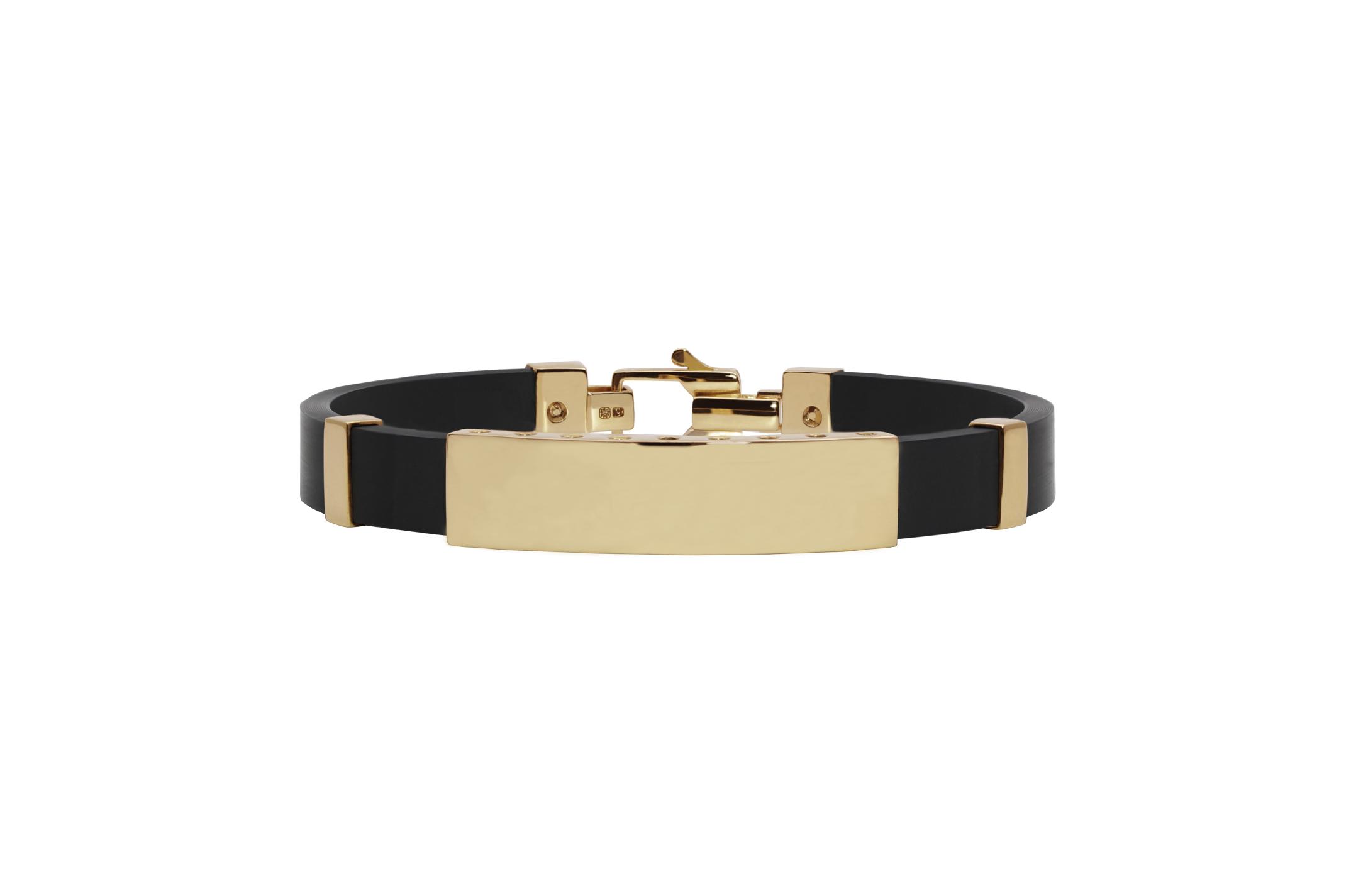 Joia: bracelet;Material: ouro 19.25 kt;Peso: 18.8 gr;Cor: amarelo;Medida Largura: 1.0 cm;Media Comprimento: ajustável a pedido;Género: homem