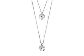Joia: Colar duplo;Material: prata 925;Peso: 7.2 gr;Cor: Branco;Pedras: Zircónias;Tamanho: 40 cm + 3 cm;Género: Unisexo