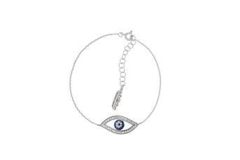 Joia: pulseira;Material: prata 925;Peso: 1.8 gr;Pedras: zircónias;Cor: branco;Medida (Fio): 17.5 cm + 1.5 cm;Género: Mulher