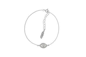 Joia: pulseira;Material: prata 925;Peso: 2.0 gr;Pedras: zircónias;Cor: branco;Medida (Fio): 17 + 2 cm;Género: mulher