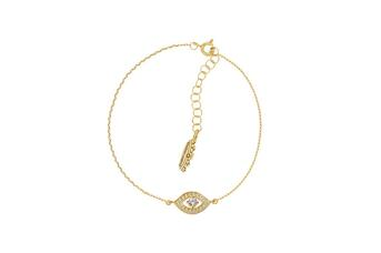 Joia: pulseira;Material: prata 925;Peso: 2.0 gr;Pedras: zircónias;Cor: amarelo;Medida (Fio): 17 + 2 cm;Género: mulher