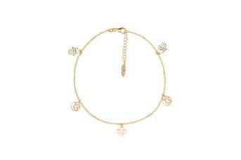 Joia: pulseira;Material: prata 925;Peso: 2.40 gr;Cor: amarelo;Tamanho: 17 cm;Género: mulher