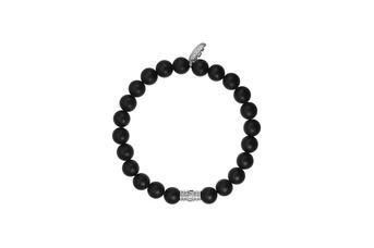 Joia: pulseira;Material: prata 925;Peso: 8.5 gr;Pedra: ágata;Cor: branco;Medida: cm;Género: mulher