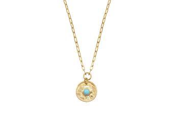 Joia: colar;Material: prata 925;Peso: 10.10 gr;Pedras: turquesa;Cor: amarelo;Medida Fio:  cm;Medida Pendente:  cm;Género: mulher