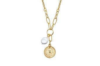 Joia: colar;Material: prata 925;Peso: 15.90 gr;Pedras: pérola natural e turquesa;Cor: amarelo;Medida Fio:  cm;Medida Pendente: cm;Género: mulher