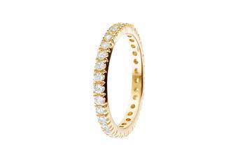Joia: anel;Material: prata 925;Pedras: zircónias;Cor: amarelo e branco;Género: mulher
