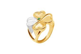 Joia: anel;Material: prata 925;Peso: 6.90 gr;Pedra: zircónia;Cor: branco e amarelo;Medida Mesa: 2.3 cm;Género: mulher