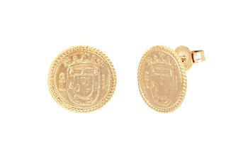 Joia: brincos;Material: prata 925;Peso: 7.40 gr;Cor: amarelo;Medida:  cm;Género: mulher