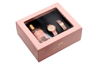 Perfume: Gold Rose;Relógio: Romantic Rosa