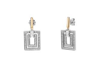 Joia: colar; Material: prata 925 e ouro 9 kt;Peso: 8 gr (prata) e 0.6 gr (ouro);Pedras: zirconias;Cor: bicolor;Tamanho: ;Género: mulher