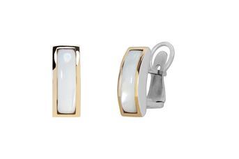 Joia: brincos;Material: prata 925 e ouro 9 quilates;Peso: prata 7.0 gr e ouro 1.0 gr;Pedra: zirconia;Cor: bicolor;Medida: 2 cm;Género: mulher
