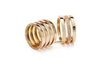Joia: anel;Material: ouro amarelo 19.2kt;Pedras: 133 diamantes 0.58ct de qualidade HV-SI;Cores: amarelo e incolor;Género: mulher