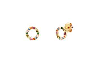 Joia: brincos;Material: ouro 19.25 kt;Peso: 2.40 gr;Pedras: zircónias;Cor: amarelo;Tamanho: ;Género: mulher